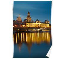 Dresden bei Nacht Poster