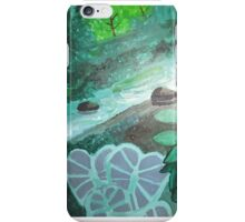 Stream with Blue Leaves iPhone Case/Skin