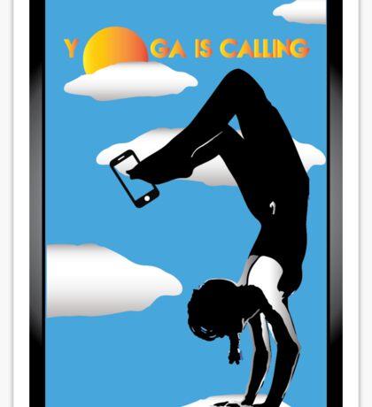 Yoga is calling Sticker