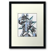 Cyber Graffiti Framed Print