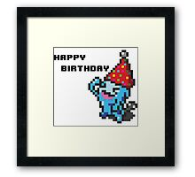[Pokemon] 8Bit Wobuffet Birthday Card Framed Print