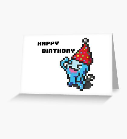 [Pokemon] 8Bit Wobuffet Birthday Card Greeting Card