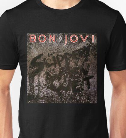 new album cover of bon jovi slippery when wet Unisex T-Shirt