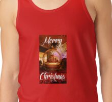 Chrismas Snowglobe Greeting Tank Top