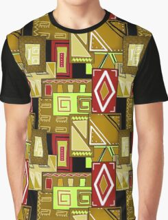 Patchwork seamless geometric folk pattern texture background Graphic T-Shirt