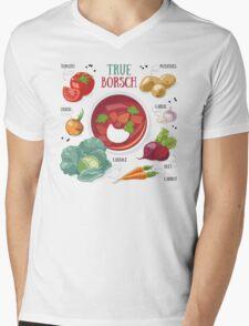 True borsch Mens V-Neck T-Shirt