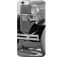 1931 Model A Ford- Front side view  b&w iPhone Case/Skin