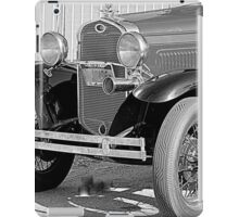 1931 Model A Ford- Front side view  b&w iPad Case/Skin