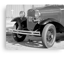 1931 Model A Ford- Front side view  b&w Canvas Print