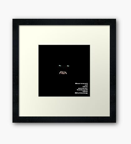 G'Mork - Servant of the power behind the Nothing Framed Print