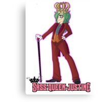 Sass-Queen-Justine Tumblr Ask Blog Tee Shirt Canvas Print