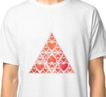 Red Heart Sierpinski Triangle Classic T-Shirt