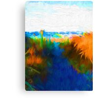 Beach View from the Middle of the Path Canvas Print