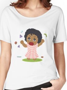 curly hair Women's Relaxed Fit T-Shirt