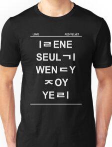 red velvet member name hangul Unisex T-Shirt