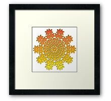 abstract pattern manipulation Framed Print