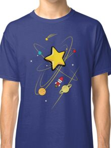 Star, planets and a red rocket Classic T-Shirt