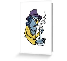 Zoot Smoking Weed Greeting Card