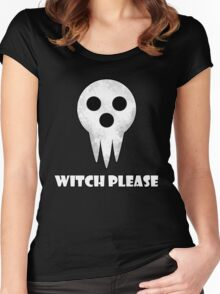 soul eater- witch please Women's Fitted Scoop T-Shirt
