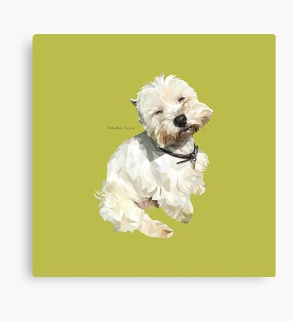 Jessica, West Highland White Terrier Canvas Print