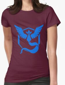 PokemonGo Blue Mystic Team Womens Fitted T-Shirt