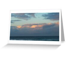 Day's End on Dreamtime Beach. Kingscliff, N.S.W. Nth. Coast. Greeting Card