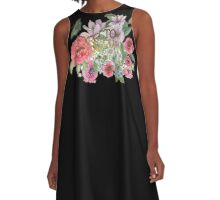 Floral Quote Expecto Ignorum A-Line Dress