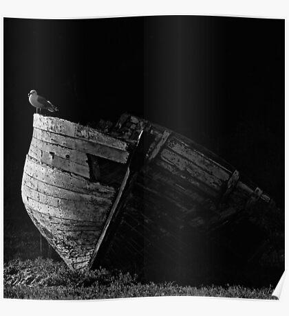 La vieille barque Poster