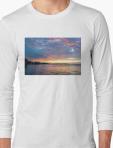 Just Before Sunrise - Toronto's Skyline Under Spectacular Clouds Long Sleeve T-Shirt