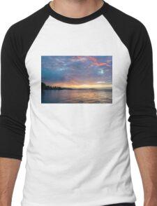 Just Before Sunrise - Toronto Skyline Under Spectacular Clouds Men's Baseball ¾ T-Shirt