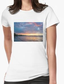 Just Before Sunrise - Toronto Skyline Under Spectacular Clouds Womens Fitted T-Shirt