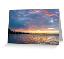 Just Before Sunrise - Toronto's Skyline Under Spectacular Clouds Greeting Card
