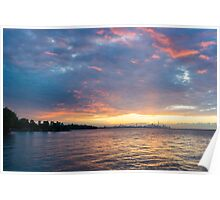 Just Before Sunrise - Toronto Skyline Under Spectacular Clouds Poster
