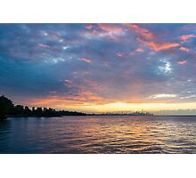 Just Before Sunrise - Toronto Skyline Under Spectacular Clouds Photographic Print