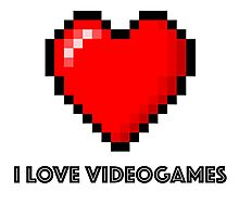 i love videogames Photographic Print