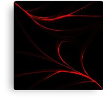 Red fire curved lines Canvas Print