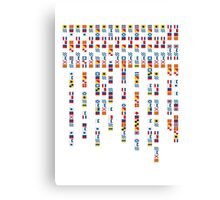 In the Navy - Navy Alphabet - Navy Signal Flags Canvas Print