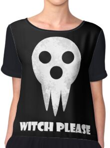 soul eater- witch please Chiffon Top