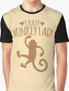 Crazy Monkey Lady Graphic T-Shirt