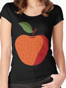 Beautiful Apple Painting Women's Fitted Scoop T-Shirt