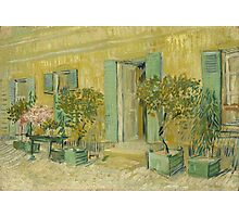 Vincent Van Gogh - Exterior Of A Restaurant In Asnieres. House landscape: city view, streets, building, little house, church, cityscape, architecture, construction, panorama garden, buildings Photographic Print