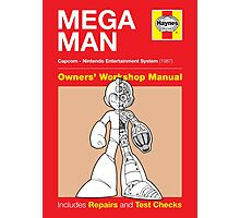 Haynes Manual - Mega Man - Poster & stickers Photographic Print