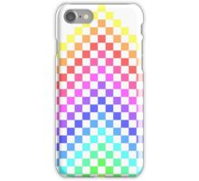 Pixel Rainbow Chevron iPhone Case/Skin