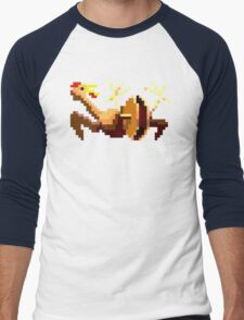Rubber chicken with a pulley in the middle Men's Baseball ¾ T-Shirt