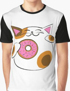 Donut Lucky cat Graphic T-Shirt