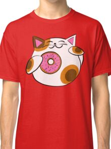 Donut Lucky cat Classic T-Shirt