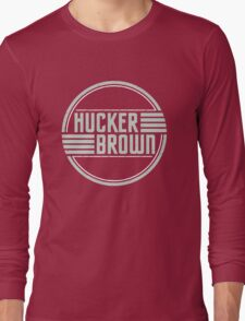 Hucker Brown - retro blue logo Long Sleeve T-Shirt
