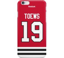 Chicago Blackhawks Jonathan Toews Jersey Back Phone Case iPhone Case/Skin