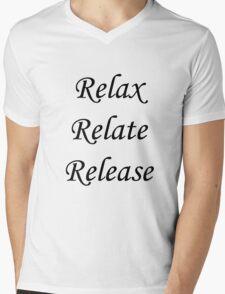 Relax, Relate, Release Mens V-Neck T-Shirt