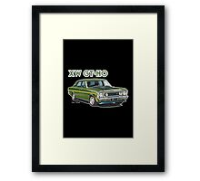 XW GT HO Ford Falcon in reef green Framed Print